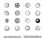 all types of game balls for all ... | Shutterstock .eps vector #1854303964