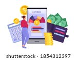 personal budget planning and...   Shutterstock .eps vector #1854312397