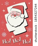 smiling santa claus greeting... | Shutterstock .eps vector #1854327244