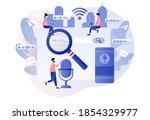 voice assistant concept. voice... | Shutterstock .eps vector #1854329977