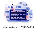 tiny people programmer or...   Shutterstock .eps vector #1854334114