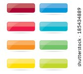 colorful rectangle web buttons | Shutterstock .eps vector #185434889