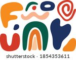 abstract shapes collection with ...   Shutterstock .eps vector #1854353611