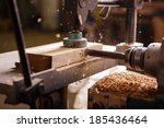 detailed view of the drill when ... | Shutterstock . vector #185436464