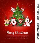 merry christmas and happy new... | Shutterstock .eps vector #1854368161
