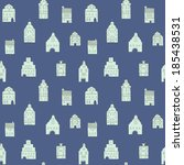 seamless pattern with old... | Shutterstock .eps vector #185438531