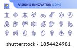 outline icons about vision and... | Shutterstock .eps vector #1854424981