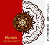 mandala design.background for... | Shutterstock .eps vector #1854434197