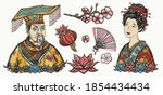 ancient china. history and... | Shutterstock .eps vector #1854434434