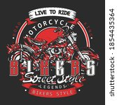 bikers. live to ride slogan.... | Shutterstock .eps vector #1854435364