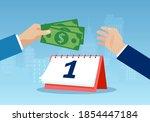 salary payment concept. vector... | Shutterstock .eps vector #1854447184