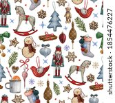 Pattern With Vintage Christmas...