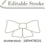 party bow icon. editable stroke ...