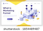 landing page template with... | Shutterstock .eps vector #1854489487