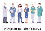 doctors or surgeons team...   Shutterstock .eps vector #1854556021