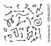 hand drawn vector arrow... | Shutterstock .eps vector #1854610027