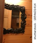 Bathroom Mirror In A Log Cabin