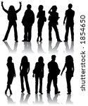 silhouettes man and women ...   Shutterstock . vector #1854650