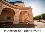 View Through The Portico At The ...