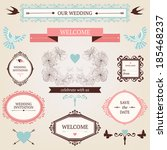 vintage collection of vector... | Shutterstock .eps vector #185468237