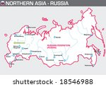 map of russia | Shutterstock .eps vector #18546988