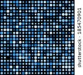 Circles Pattern In Dark Blue...