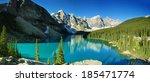 Lake Moraine Panorama  Banff...