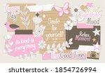 cute vector elements in paper... | Shutterstock .eps vector #1854726994
