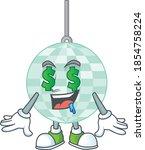 Cute Rich Disco Ball Mascot...