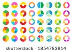 colorful pie and donut chart... | Shutterstock .eps vector #1854783814