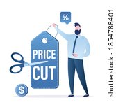 cut prices  holiday discounts... | Shutterstock .eps vector #1854788401