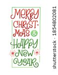 merry christmas and happy new...   Shutterstock .eps vector #1854802081