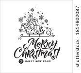 merry christmas vector...   Shutterstock .eps vector #1854802087