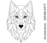 wolf head icon. abstract... | Shutterstock .eps vector #1854813577
