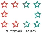 glittery star border in red and ... | Shutterstock . vector #1854859