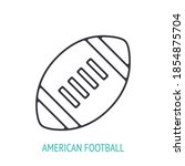 american football or rugby ball ... | Shutterstock .eps vector #1854875704
