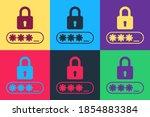 pop art password protection and ... | Shutterstock .eps vector #1854883384