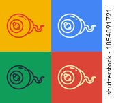 pop art line eye icon isolated...   Shutterstock .eps vector #1854891721