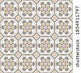 seamless pattern tiles azulejos.... | Shutterstock .eps vector #1854911797