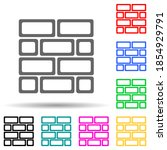 brick wall multi color style...