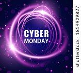 cyber monday concept banner.... | Shutterstock .eps vector #1854929827