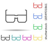 spectacles multi color style...