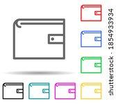 purse multi color style icon....