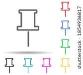 needle pin multi color style...