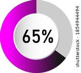 65  circle percentage diagrams  ...