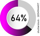 64  circle percentage diagrams  ...