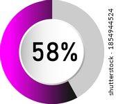58  circle percentage diagrams  ...