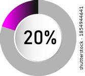 20  circle percentage diagrams  ...