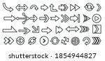linear arrow icons set....