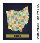 ohio map. us state poster with... | Shutterstock .eps vector #1854951427